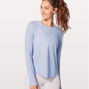 Lululemon Play Off The Pleats Long Sleeve Top